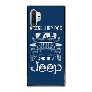 coque custodia cover fundas hoesjes j3 J5 J6 s20 s10 s9 s8 s7 s6 s5 plus edge D25179 GIRL HER DOG & HER JEEP Samsung Galaxy Note 10 Plus Case