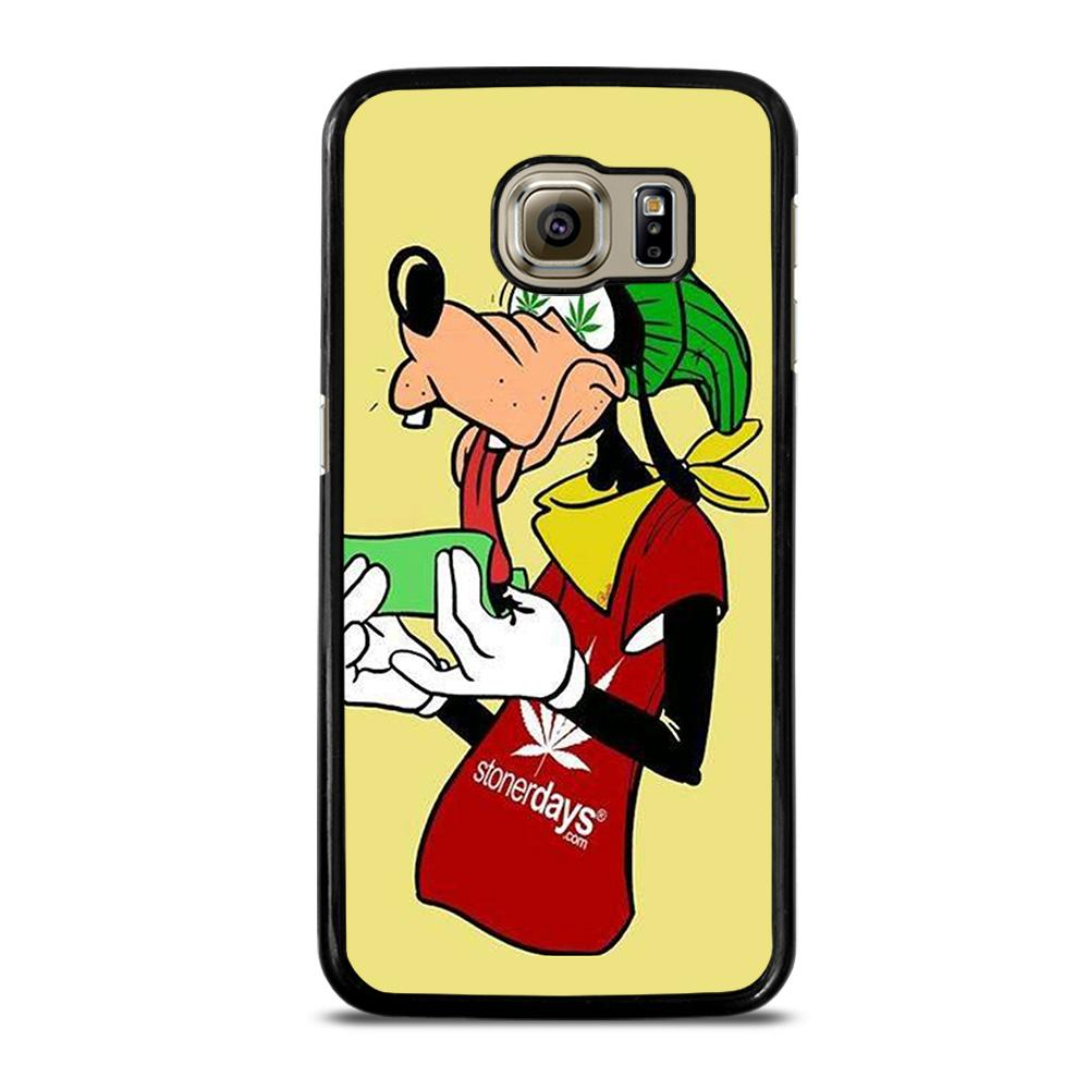 coque custodia cover fundas hoesjes j3 J5 J6 s20 s10 s9 s8 s7 s6 s5 plus edge D25435 GOOFY ROLL WEED Samsung Galaxy S6 Case
