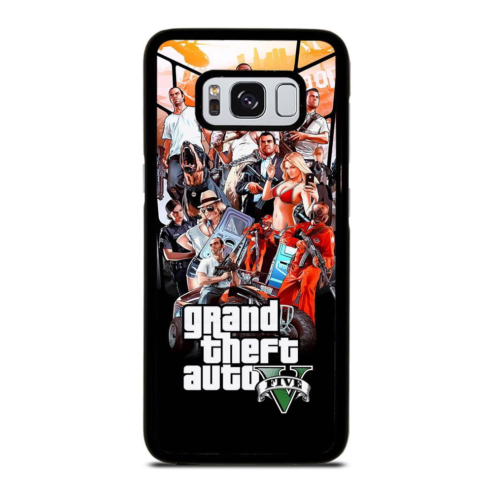 coque custodia cover fundas hoesjes j3 J5 J6 s20 s10 s9 s8 s7 s6 s5 plus edge D25482 GRAND THEFT AUTO V GTA 5 Samsung Galaxy S8 Case