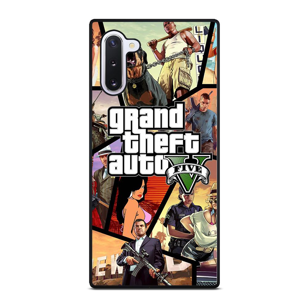 coque custodia cover fundas hoesjes j3 J5 J6 s20 s10 s9 s8 s7 s6 s5 plus edge D25458 GRAND THEFT AUTO V GTA 5 2 Samsung Galaxy Note 10 Case