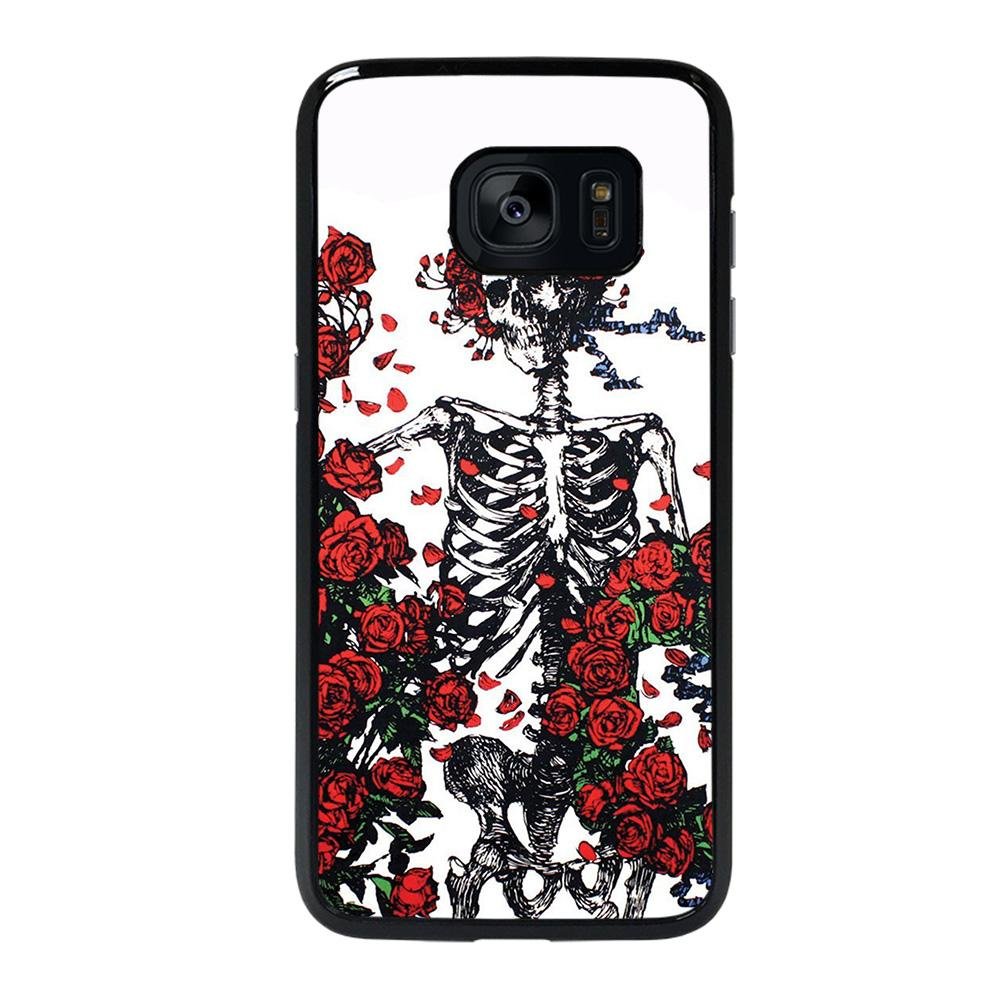 coque custodia cover fundas hoesjes j3 J5 J6 s20 s10 s9 s8 s7 s6 s5 plus edge D25561 GRATEFUL DEAD BONES AND ROSES Samsung galaxy s7 edge Case