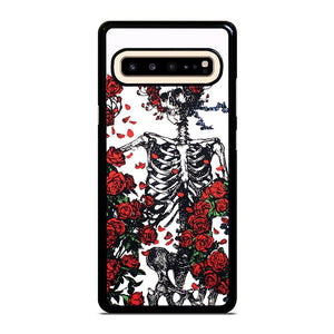 coque custodia cover fundas hoesjes j3 J5 J6 s20 s10 s9 s8 s7 s6 s5 plus edge D25552 GRATEFUL DEAD BONES AND ROSES Samsung Galaxy S10 5G Case