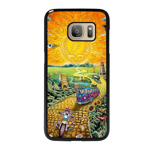 coque custodia cover fundas hoesjes j3 J5 J6 s20 s10 s9 s8 s7 s6 s5 plus edge D25577 GRATEFUL DEAD GOLD ROAD Samsung Galaxy S7 Case