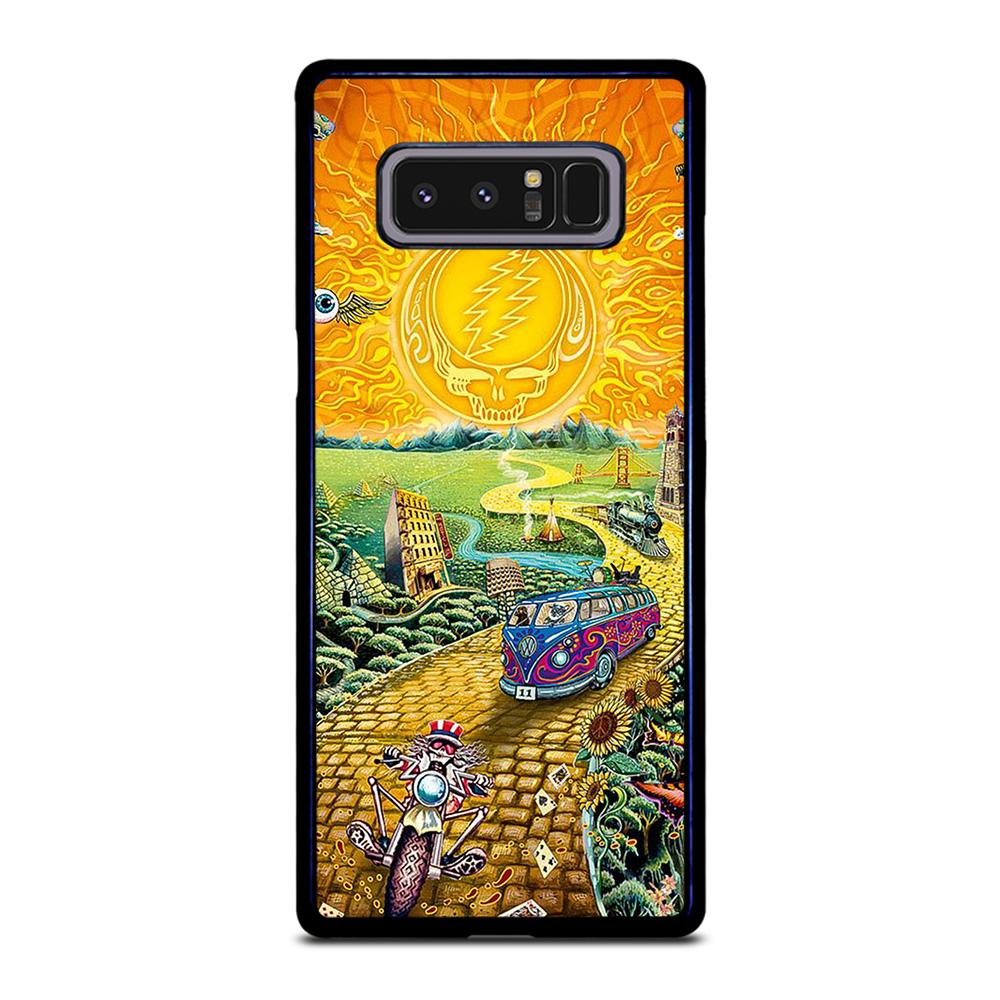 coque custodia cover fundas hoesjes j3 J5 J6 s20 s10 s9 s8 s7 s6 s5 plus edge D25568 GRATEFUL DEAD GOLD ROAD Samsung Galaxy Note 8 Case