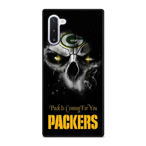 coque custodia cover fundas hoesjes j3 J5 J6 s20 s10 s9 s8 s7 s6 s5 plus edge D25697 GREEN BAY PACKERS SKULL Samsung Galaxy Note 10 Case