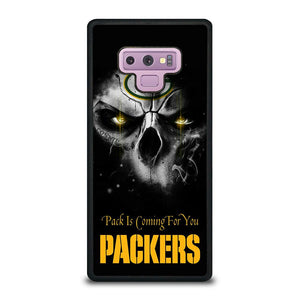 coque custodia cover fundas hoesjes j3 J5 J6 s20 s10 s9 s8 s7 s6 s5 plus edge D25700 GREEN BAY PACKERS SKULL Samsung Galaxy Note 9 Case