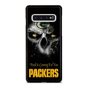 coque custodia cover fundas hoesjes j3 J5 J6 s20 s10 s9 s8 s7 s6 s5 plus edge D25702 GREEN BAY PACKERS SKULL Samsung Galaxy S10 Case