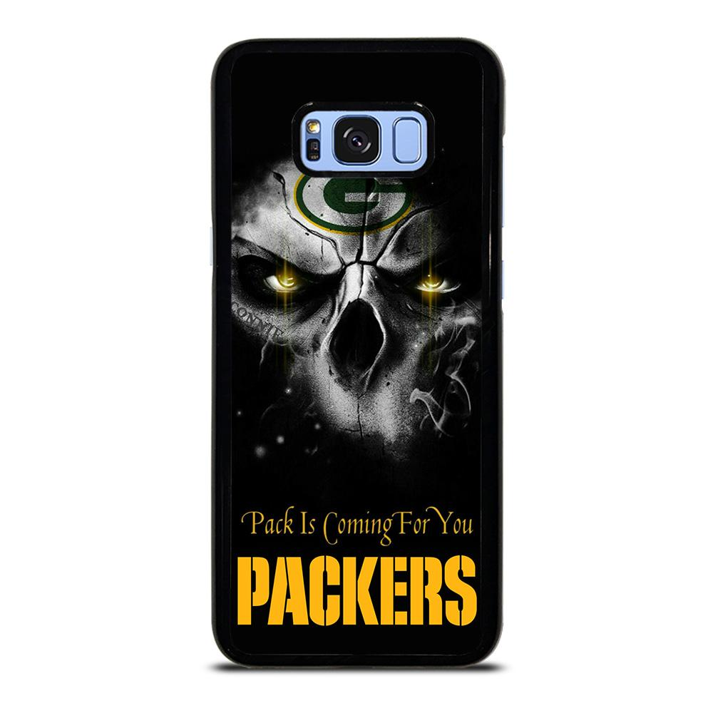 coque custodia cover fundas hoesjes j3 J5 J6 s20 s10 s9 s8 s7 s6 s5 plus edge D25708 GREEN BAY PACKERS SKULL Samsung Galaxy S8 Plus Case