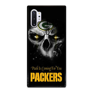 coque custodia cover fundas hoesjes j3 J5 J6 s20 s10 s9 s8 s7 s6 s5 plus edge D25698 GREEN BAY PACKERS SKULL Samsung Galaxy Note 10 Plus Case
