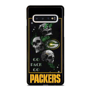coque custodia cover fundas hoesjes j3 J5 J6 s20 s10 s9 s8 s7 s6 s5 plus edge D25675 GREEN BAY PACKERS SKULL 1 Samsung Galaxy S10 Case
