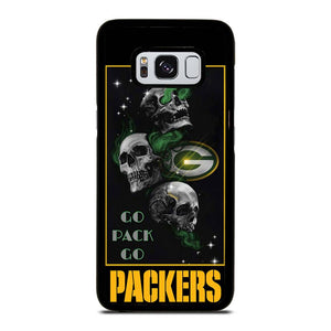 coque custodia cover fundas hoesjes j3 J5 J6 s20 s10 s9 s8 s7 s6 s5 plus edge D25680 GREEN BAY PACKERS SKULL 1 Samsung Galaxy S8 Case