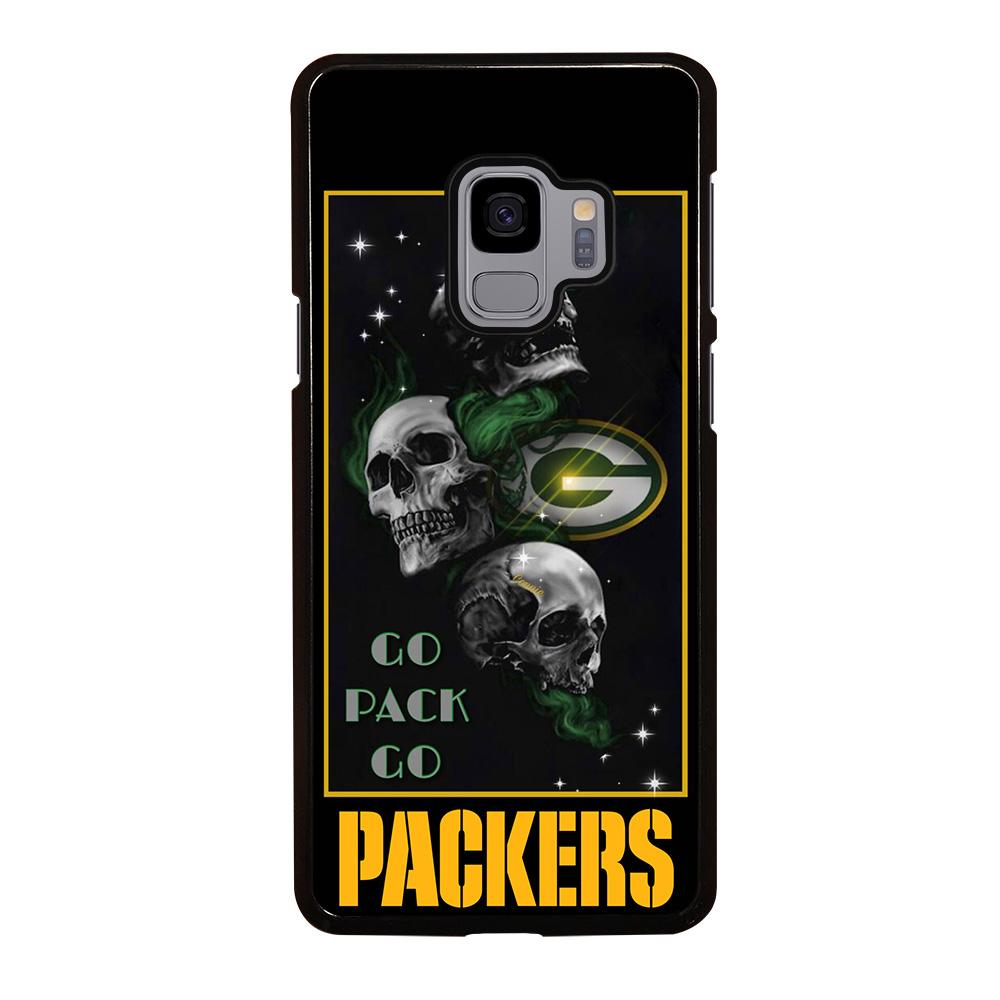 coque custodia cover fundas hoesjes j3 J5 J6 s20 s10 s9 s8 s7 s6 s5 plus edge D25682 GREEN BAY PACKERS SKULL 1 Samsung Galaxy S9 Case