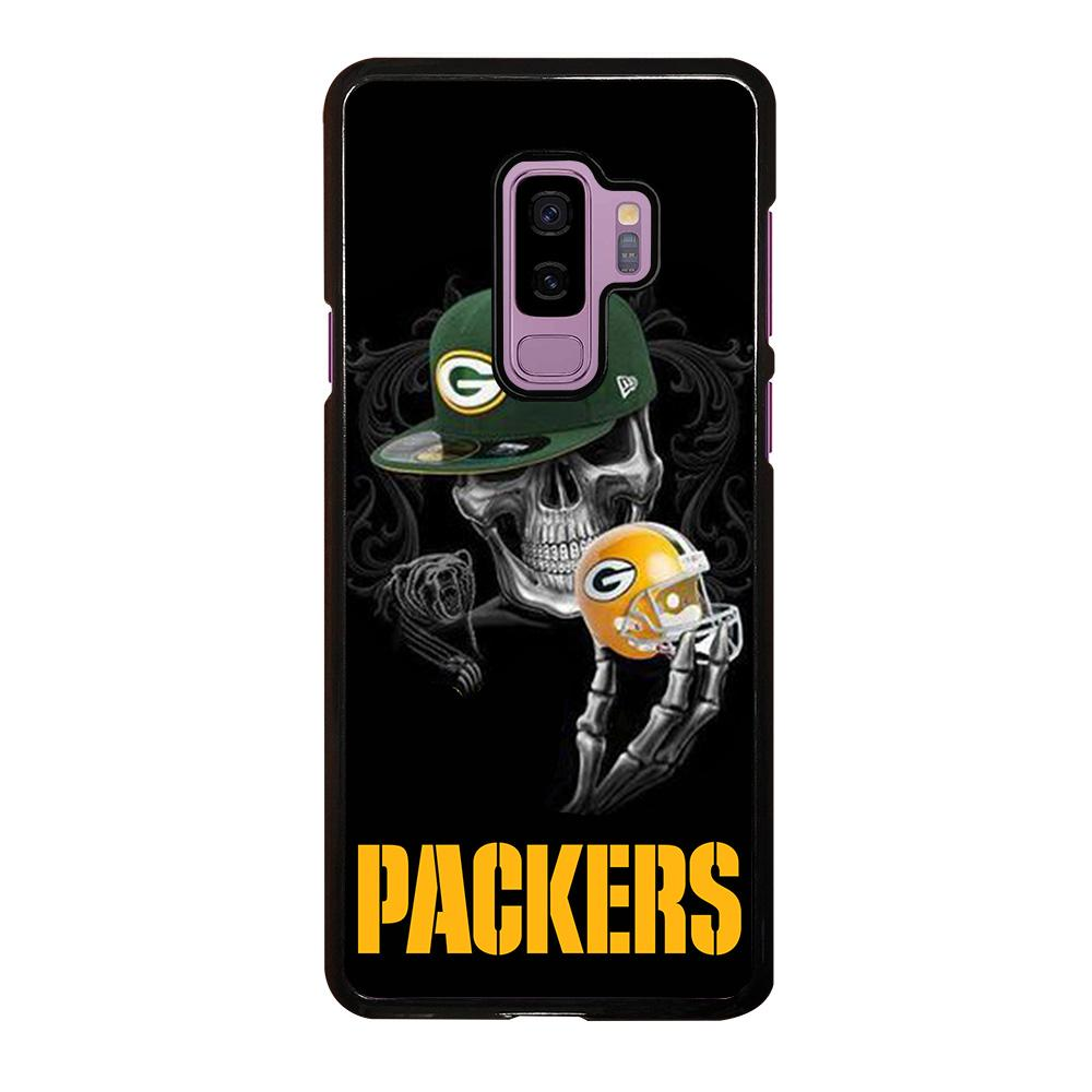 coque custodia cover fundas hoesjes j3 J5 J6 s20 s10 s9 s8 s7 s6 s5 plus edge D25696 GREEN BAY PACKERS SKULL 2 Samsung Galaxy S9 Plus Case