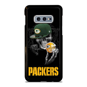 coque custodia cover fundas hoesjes j3 J5 J6 s20 s10 s9 s8 s7 s6 s5 plus edge D25689 GREEN BAY PACKERS SKULL 2 Samsung Galaxy S10 e Case