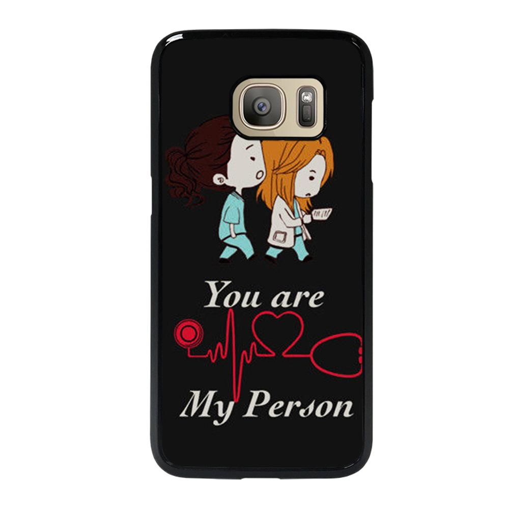 coque custodia cover fundas hoesjes j3 J5 J6 s20 s10 s9 s8 s7 s6 s5 plus edge D25755 GREY' S ANATOMY YOU'RE MY PERSON #1 Samsung Galaxy S7 Case