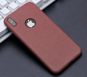 Mode 360 complet de protection en cuir TPU souple housse étui iPhone pour iPhone X XR XS Max 6/6s 7
