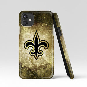 coque custodia cover case fundas hoesjes iphone 11 pro max 5 6 6s 7 8 plus x xs xr se2020 pas cher p9838 New Orleans Saints Vintage Brush Wallpapers