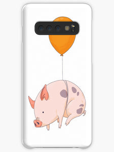 Pink Pigs with Green Acorns  Coque Samsung S10