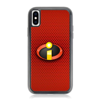 The Incredibles 2 Logo Red Carbon Z5260 iPhone XS Max coque