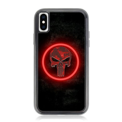 The punisher Skul Logo Z4268 iPhone XS Max coque