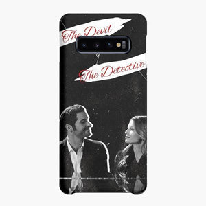 Coque Samsung galaxy S5 S6 S7 S8 S9 S10 S10E Edge Plus Tom Ellis Lucifer Morning Star