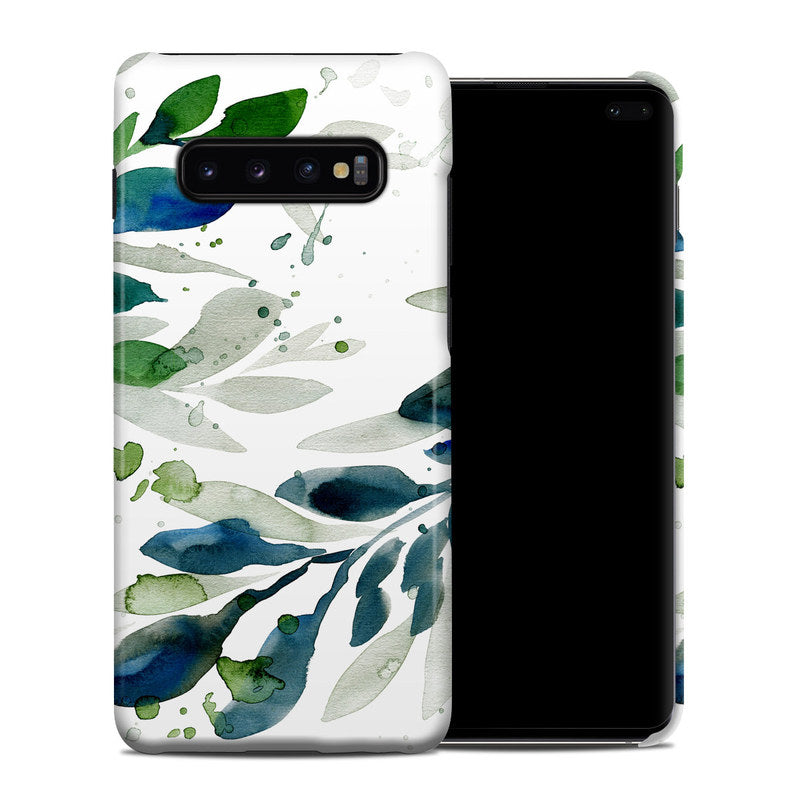 Watercolor leaves pattern Coque Samsung S10