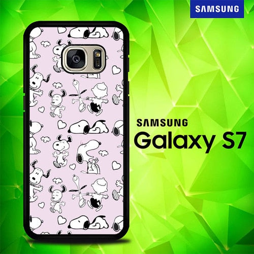 Snoopy on the Floor S0397 coque Samsung Galaxy S7