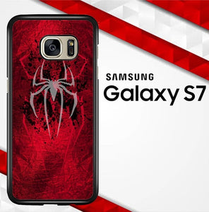 White Logo Spiderman O0951 coque Samsung Galaxy S7