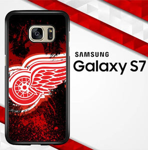 Detroit Red Wing Logo O3035 coque Samsung Galaxy S7