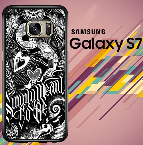 Jack And Sally Muertitos The Nightmare Before coque Samsung Galaxy S7
