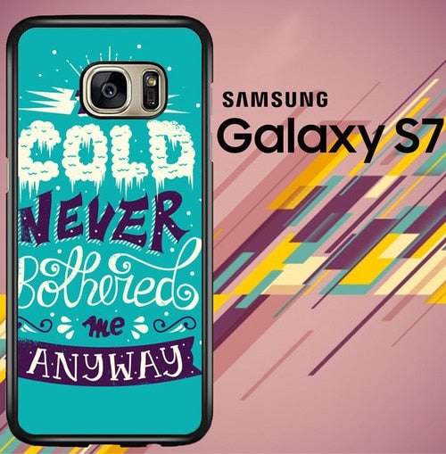 Frozen Tyopgraphy Quote Z0323 coque Samsung Galaxy S7