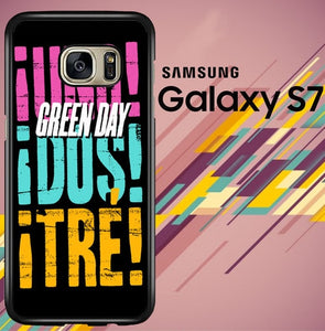 Green Day 2013 Uno Dos tre Z0553 coque Samsung Galaxy S7