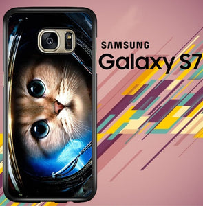 Space Cat Z1621 coque Samsung Galaxy S7