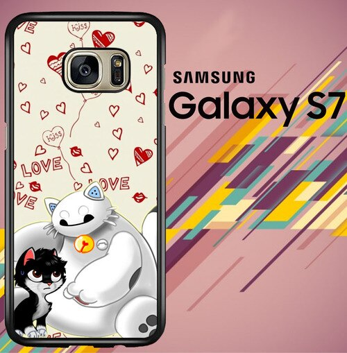 Baymax And Grumpy Cat Hairy Baby Z3279 coque Samsung Galaxy S7