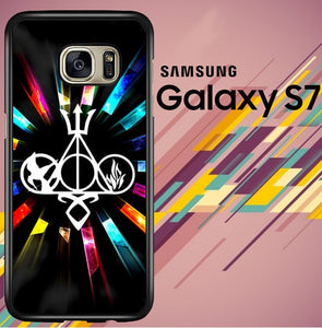 Harry Potter Divergent City of Bones Hunger Games logo Z3373 coque Samsung Galaxy S7