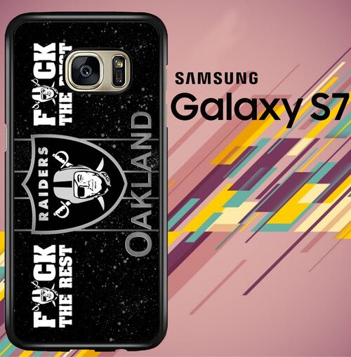 oakland raiders logo Z4054 coque Samsung Galaxy S7