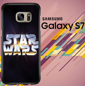 star wars logo galaxy Z4497 coque Samsung Galaxy S7