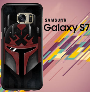 Star Wars Mandalorian face Z4525 coque Samsung Galaxy S7