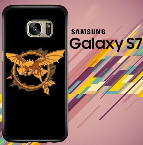 HOW TO TRAIN YOUR DRAGON Mashup HUNGER GAMES Logo coque Samsung Galaxy S7