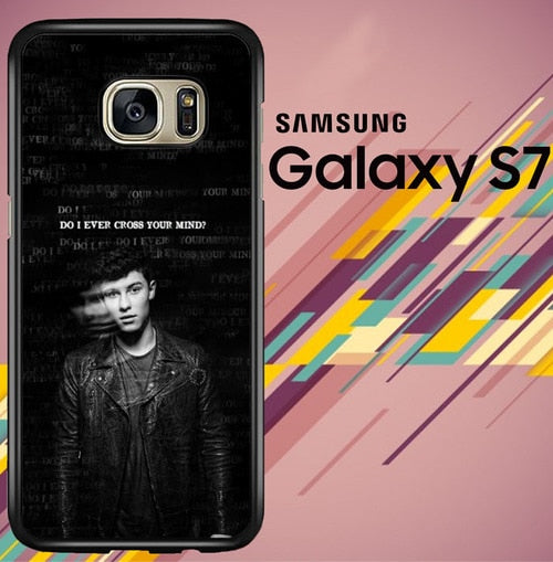 Shawn Mendes Quotes Z4214 coque Samsung Galaxy S7