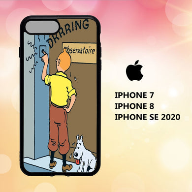coque iphone 5 6 7 8 plus x xs xr case K7627 tintin wallpaper 113jE9