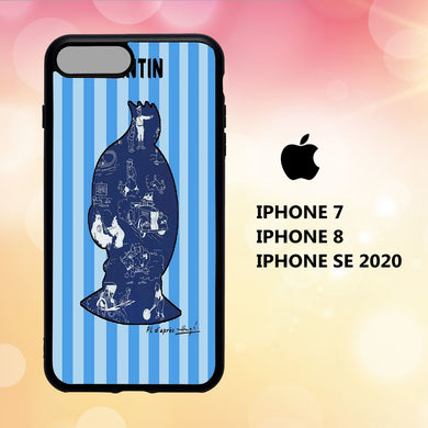 coque iphone 5 6 7 8 plus x xs xr case S2045 tintin wallpaper 113aM0