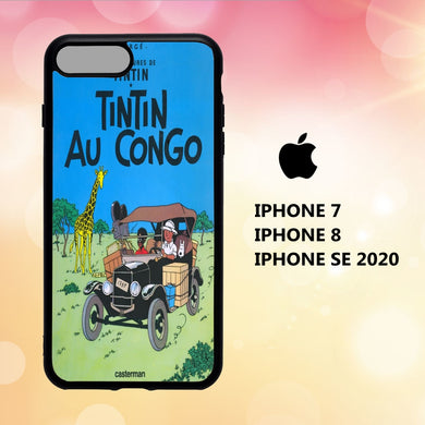 coque iphone 5 6 7 8 plus x xs xr case S7756 tintin wallpaper 113iI6