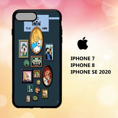 coque iphone 5 6 7 8 plus x xs xr case Y6130 tintin wallpaper 113cJ9