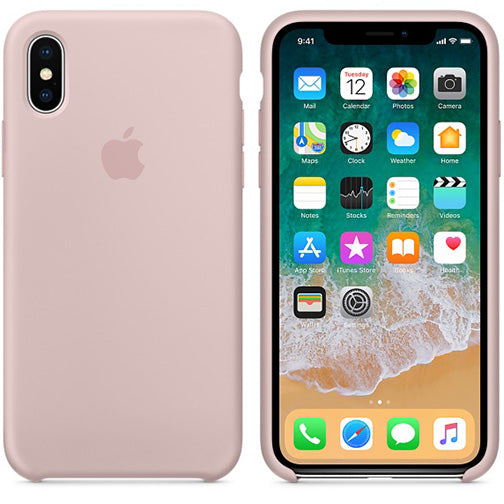 coque apple iphone xr rose silicone