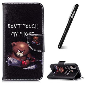 coque huawei p20 lite don't touch my phone avec pochette