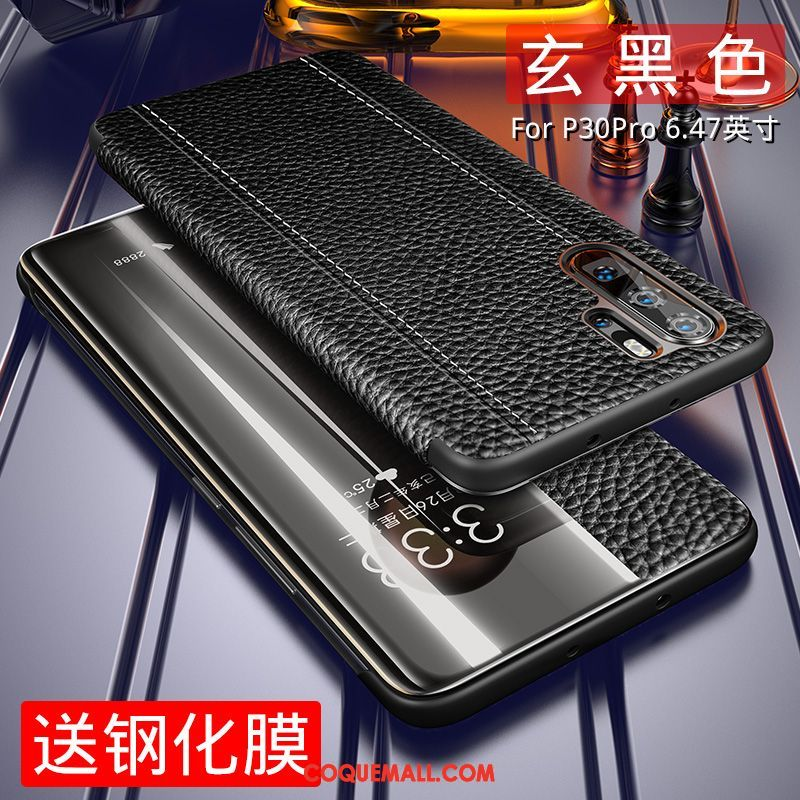 coque huawei p30 pro cuir