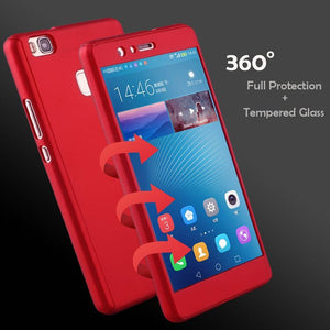 coque huawei p8 lite 2016 rouge 360