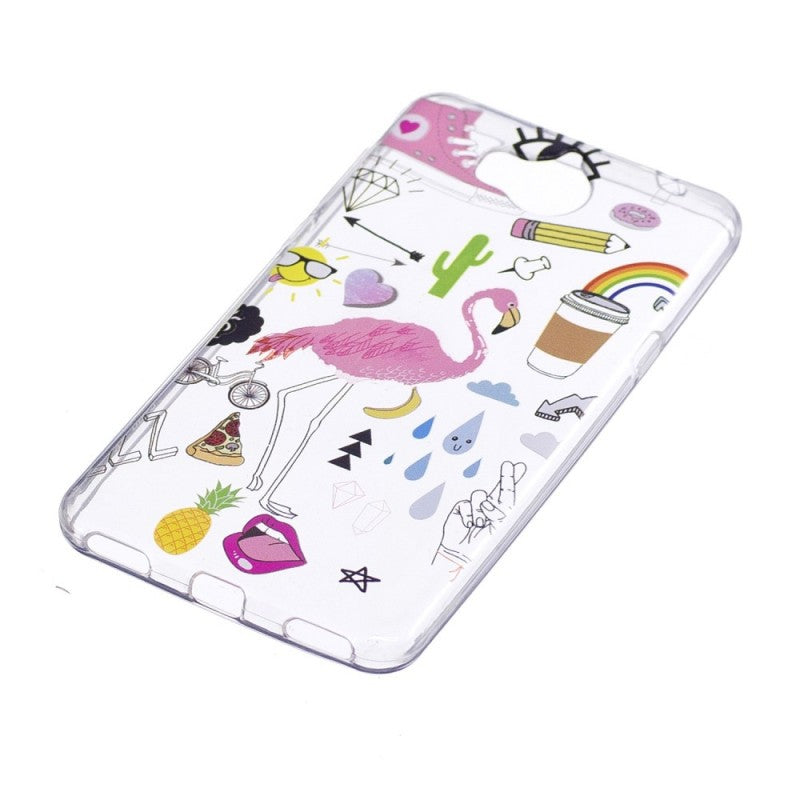 coque huawei y6 2017 flamant rose