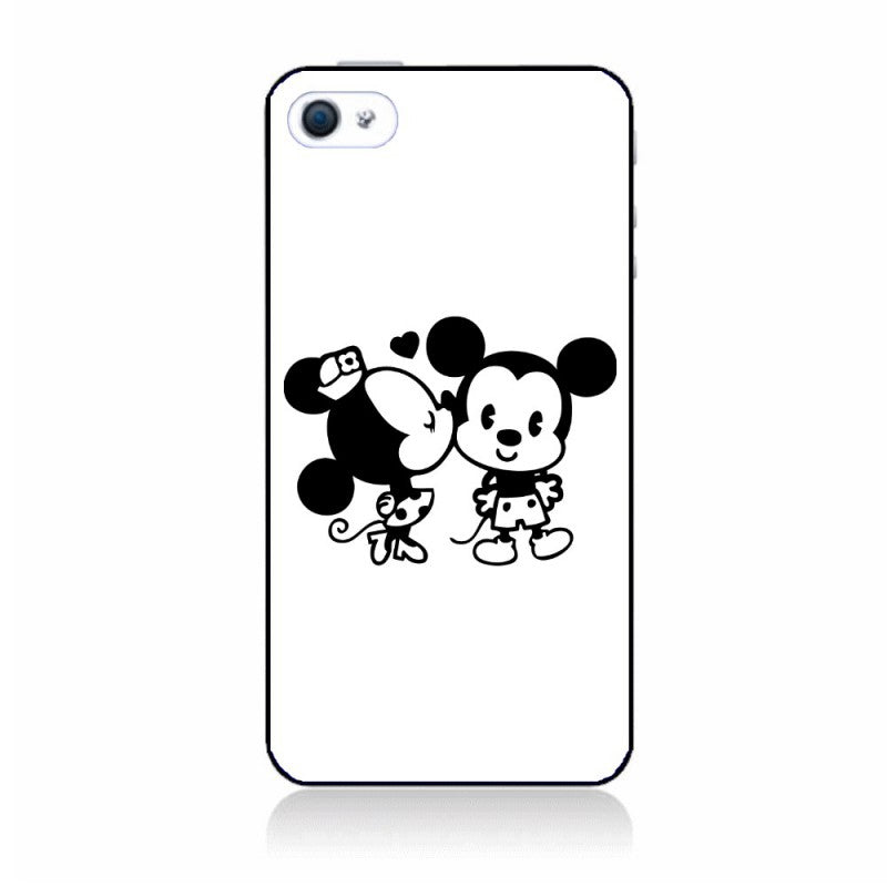 Housse protecteur Coque iphone 5/5S mickey minnie bisous swag